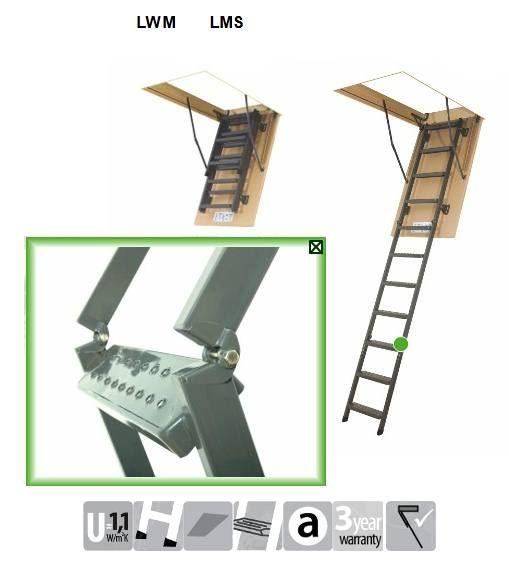 FAKRO Metāla bēniņu kāpnes SMA