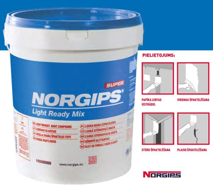 NORGIPS Ready Mix špakteles