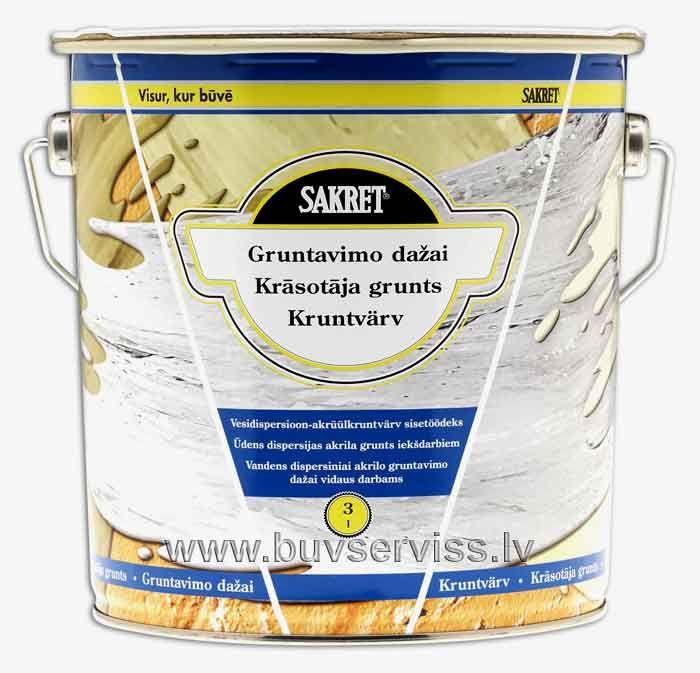 Sakret KG grunts - 3,0 L. Ūden