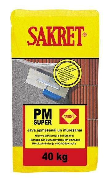 PM-Super Kaļķa-cementa java apmešanai un mūrēšanai  40kg  5.26