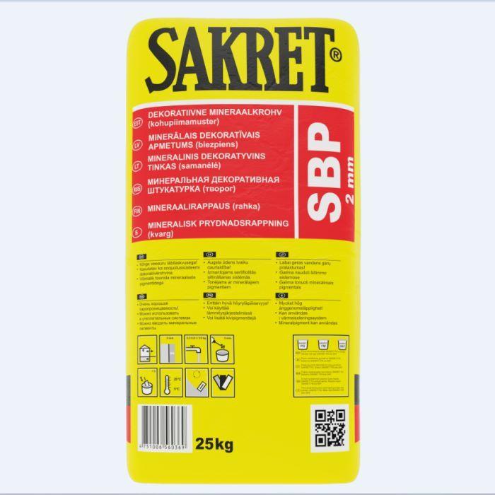 SAKRET SBP 2mm dekoratīvais ap
